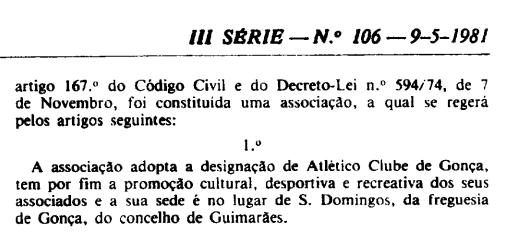 Publicação no Diário da República